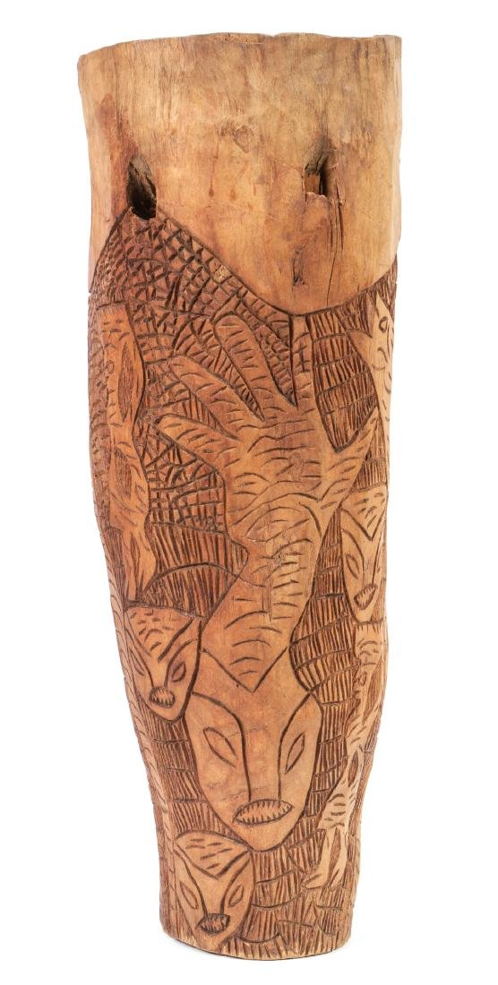 Haitian (20th c.) Carved Wood Drum - 4