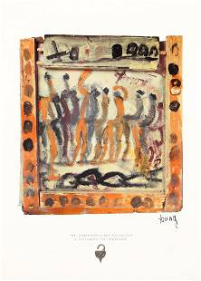 Purvis Young (1943-2010) Signed Exhibition Poster