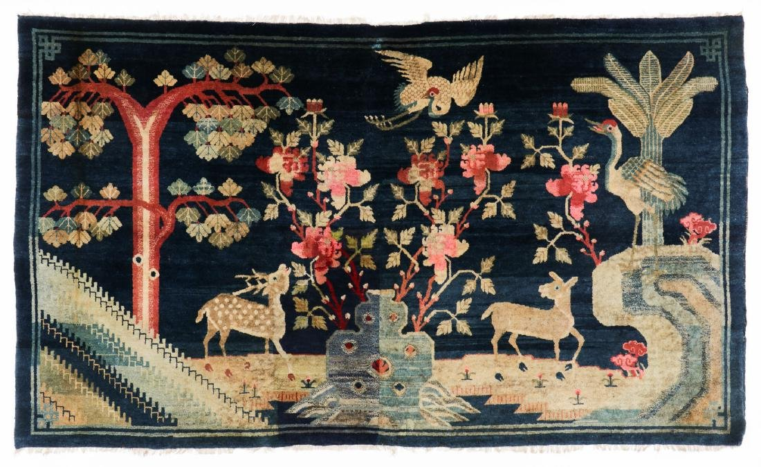 Antique Chinese Pictorial Rug: 5'2'' x 8'9''