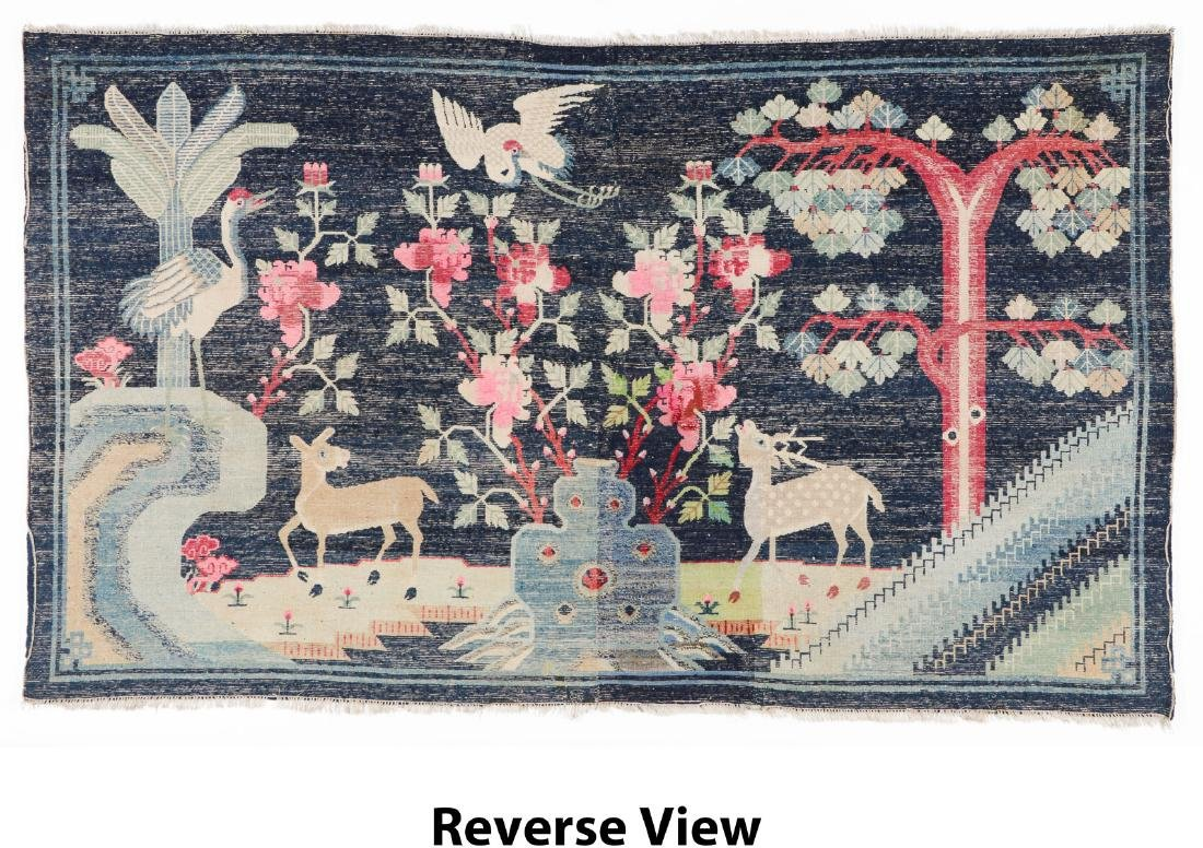 Antique Chinese Pictorial Rug: 5'2'' x 8'9'' - 6