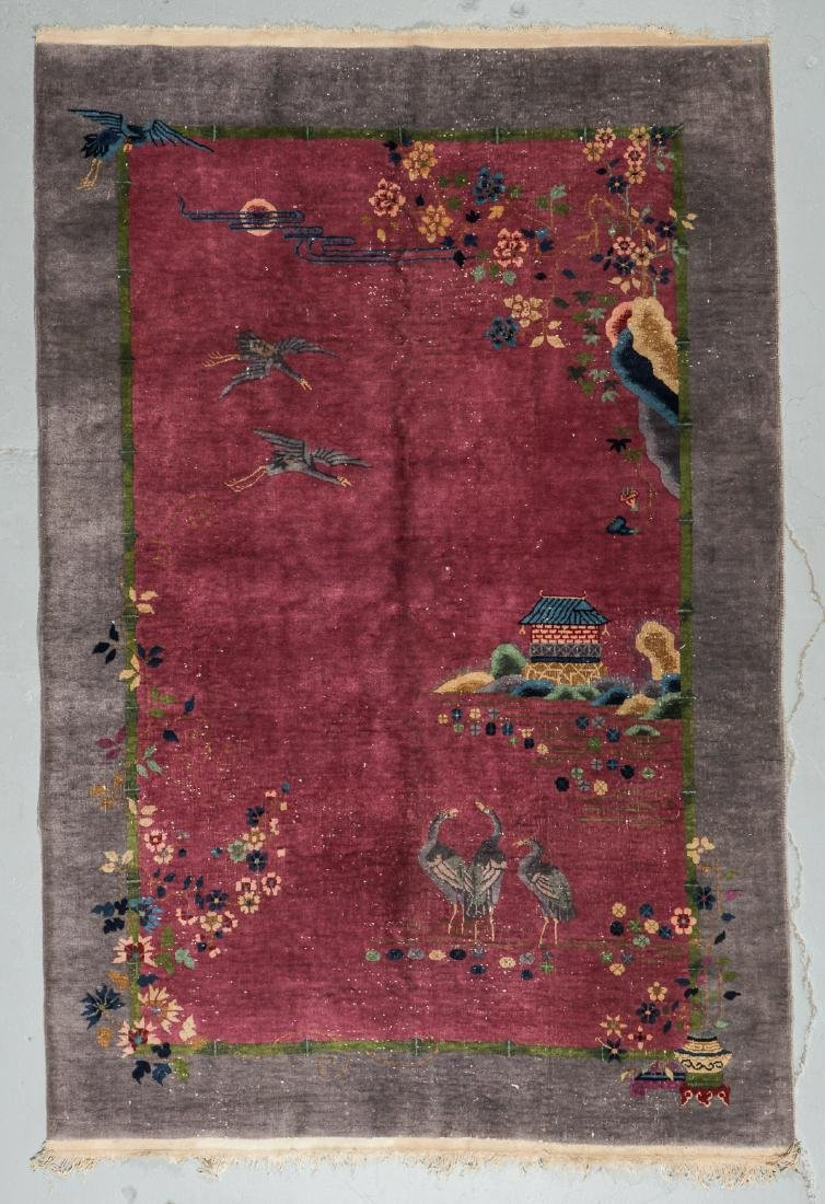 Art Deco Rug, Early 20th C, China: 5'11'' x 8'10''