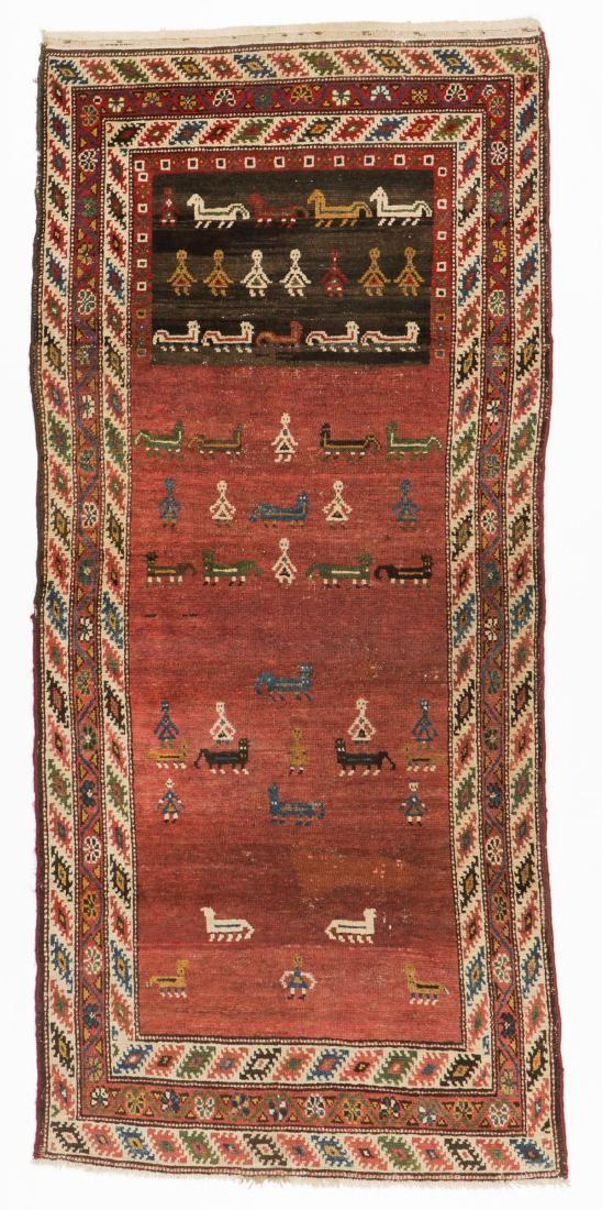 Antique West Persian Kurd Rug, Persia: 3'8'' x 8'0''