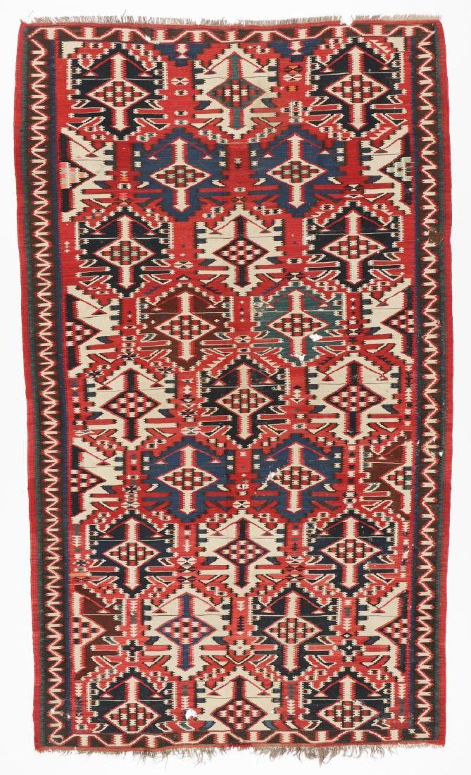 Antique Kuba Kilim, Caucasus: 5'10'' x 10'0''