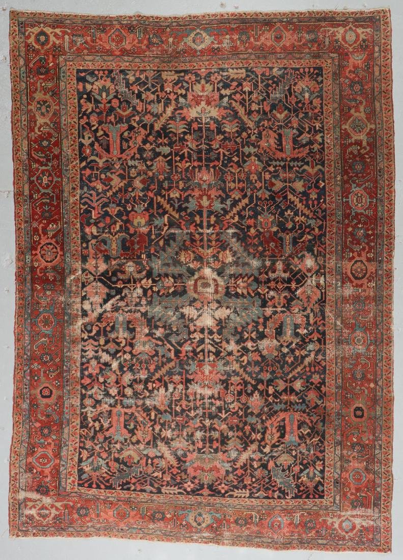 Antique Heriz Rug, Persia: 9'0'' x 12'7''