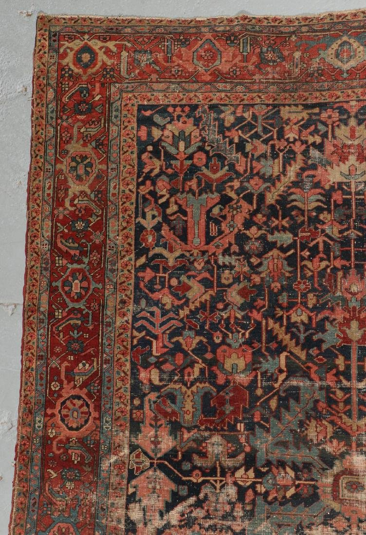 Antique Heriz Rug, Persia: 9'0'' x 12'7'' - 3