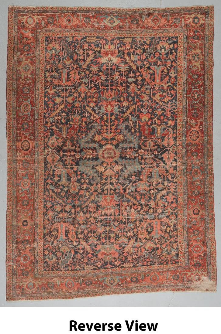 Antique Heriz Rug, Persia: 9'0'' x 12'7'' - 6