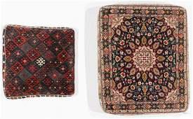 2 Persian Rug Floor Cushions