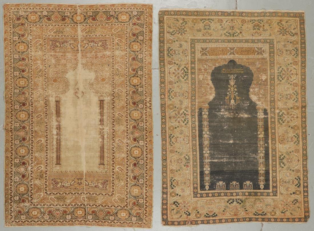 2 Antique Ghiordes Prayer Rugs, Turkey