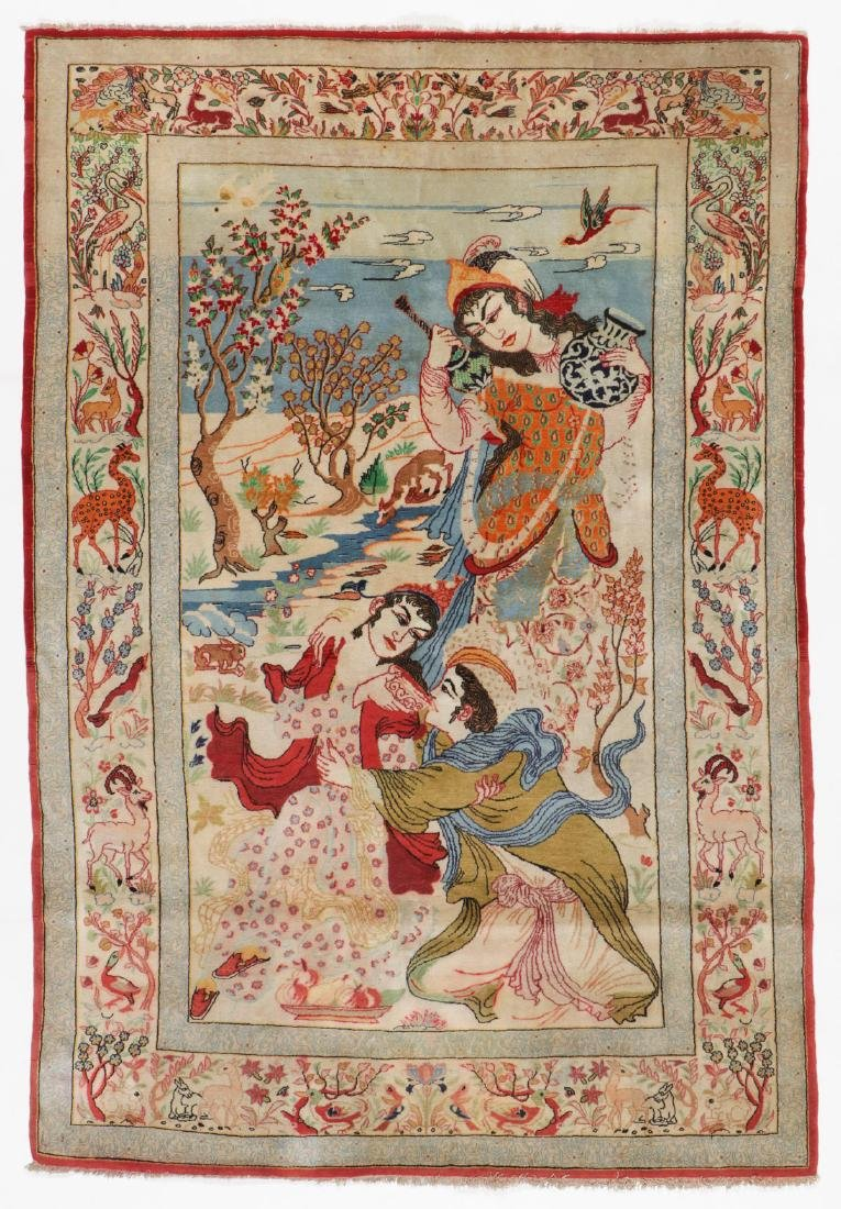 Semi-Antique Isfahan Rug, Persia: 3'6'' x 5'4''