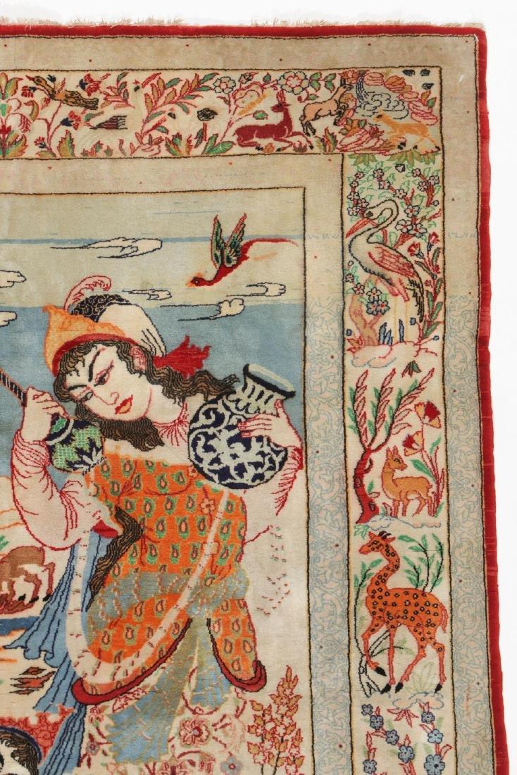 Semi-Antique Isfahan Rug, Persia: 3'6'' x 5'4'' - 3