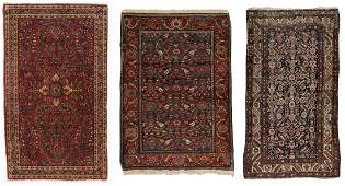 3 Antique Persian Estate Rugs