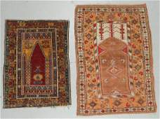 2 Old Turkish Prayer Rugs
