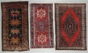 3 Antique Estate Oriental Rugs