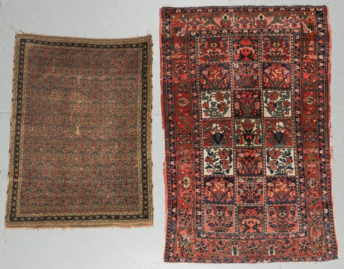Antique Persian Afshar Rug & Baktiari Rug (2)