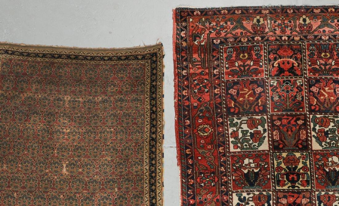 Antique Persian Afshar Rug & Baktiari Rug (2) - 2