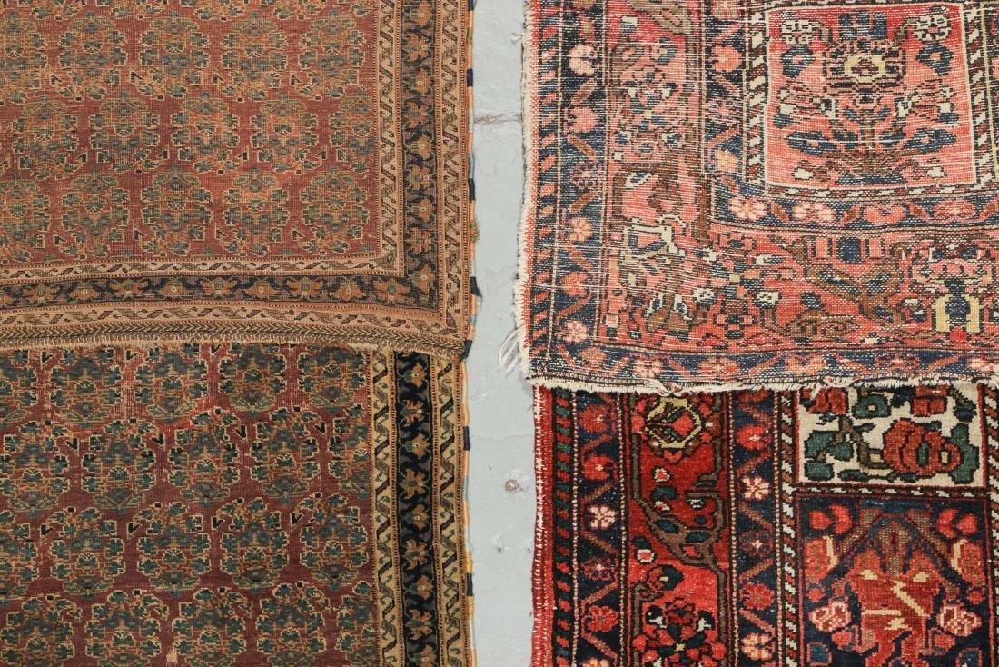 Antique Persian Afshar Rug & Baktiari Rug (2) - 4