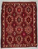 Antique Oushak Kilim, Turkey: 6'9'' x 8'4''