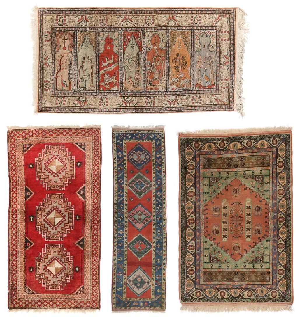4 Vintage Turkish Rugs