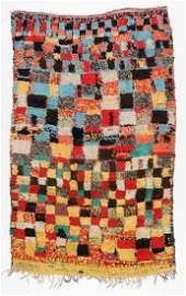 Vintage Moroccan Wool Pile Rug: 5'1'' x 8'4''