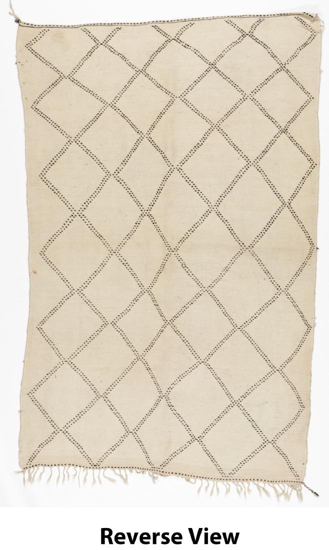 Vintage Moroccan Beni Ourain Rug: 5'1'' x 7'11'' - 6