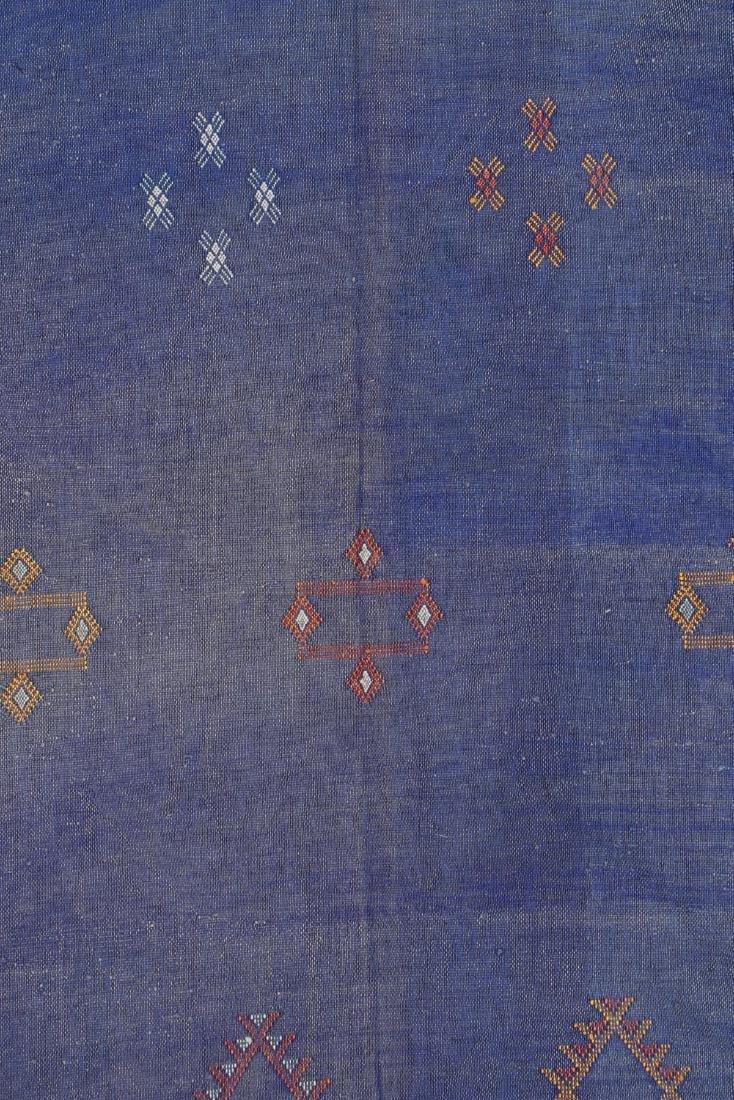 Modern Moroccan Flat Weave Rug: 3'5'' x 6'4'' - 3