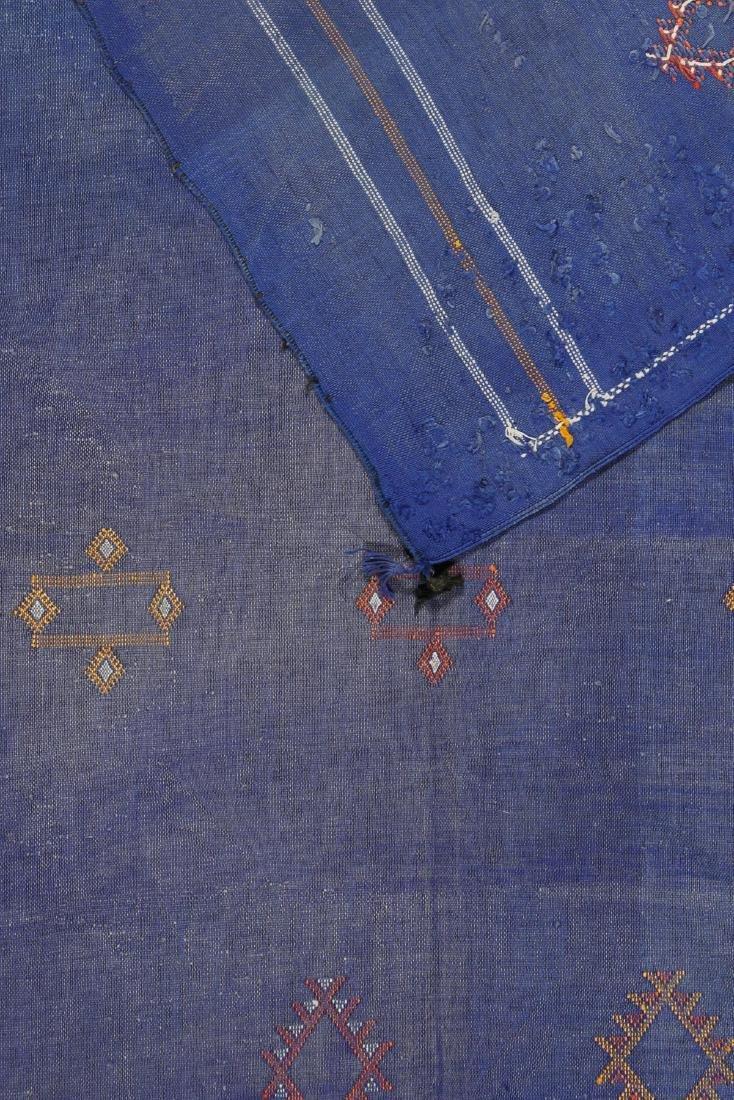 Modern Moroccan Flat Weave Rug: 3'5'' x 6'4'' - 4