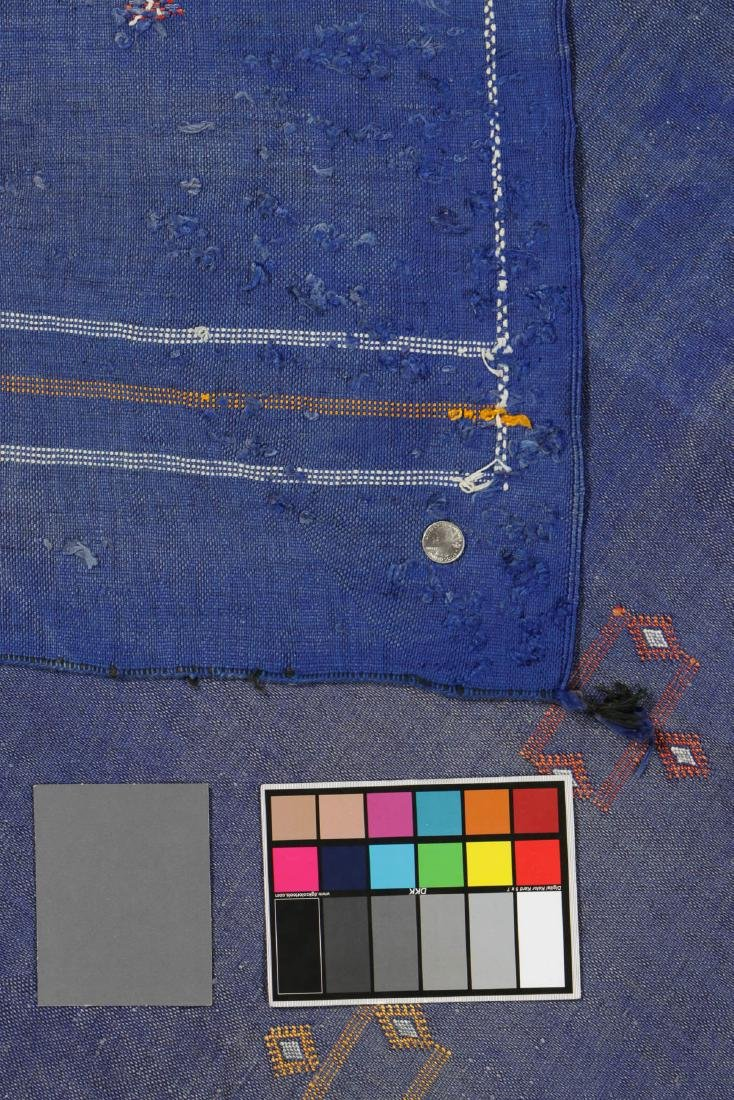 Modern Moroccan Flat Weave Rug: 3'5'' x 6'4'' - 5