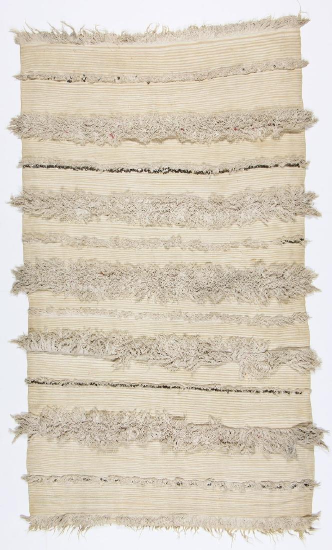 Vintage Moroccan Wedding Blanket: 4'2'' x 7'2''