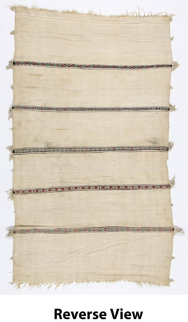 Vintage Moroccan Wedding Blanket: 4'2'' x 7'2'' - 6
