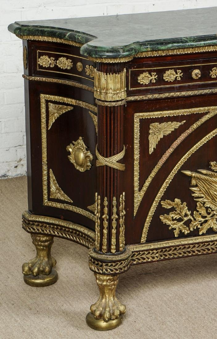 French Empire Style Marble Top Commode - 2