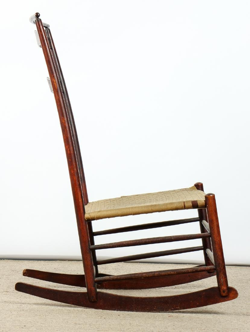 Antique American Shaker Rocking Chair - 4