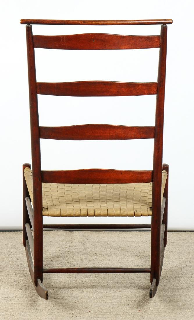 Antique American Shaker Rocking Chair - 5