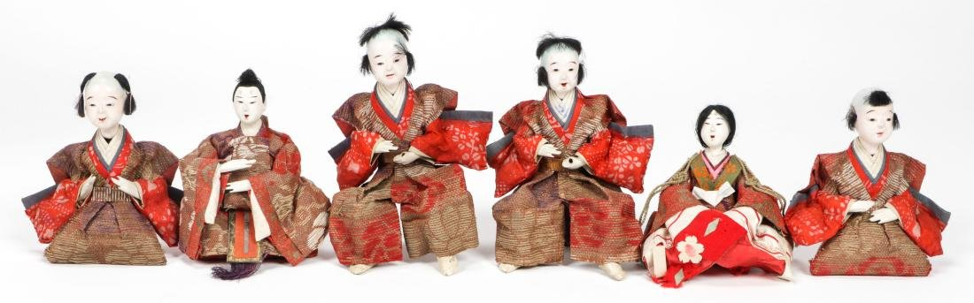 Collection of 17 Antique Geisha Dolls, Japan - 2