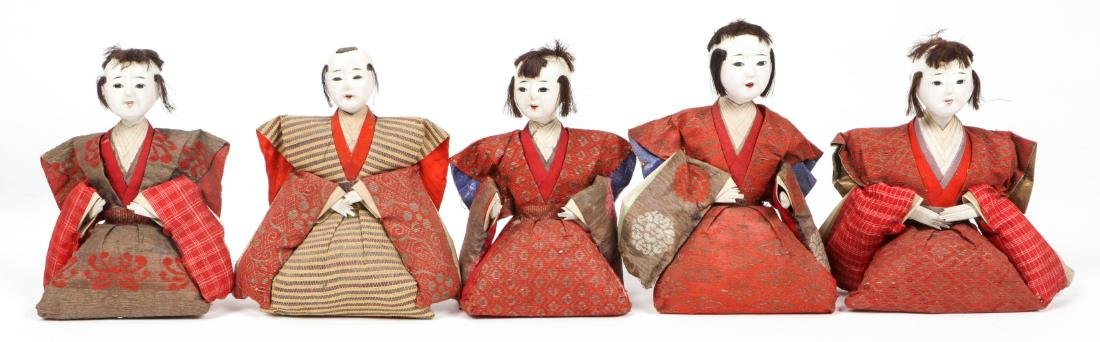 Collection of 17 Antique Geisha Dolls, Japan - 7