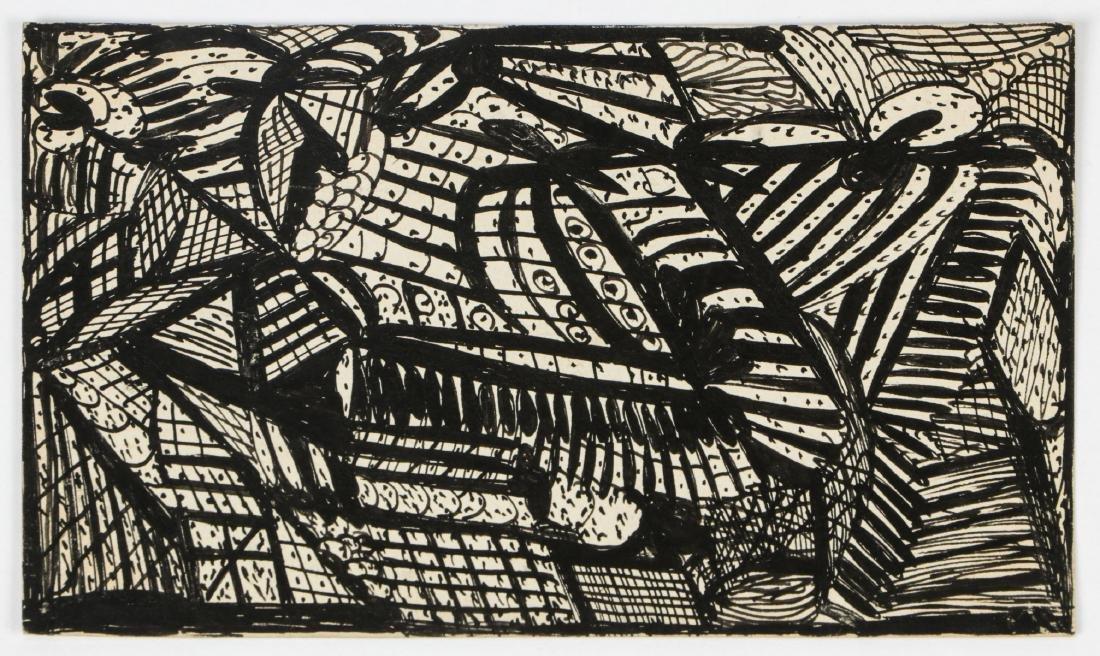 Madge Gill (British, 1882-1961) Abstract Ink Drawing - 2