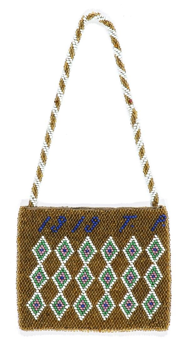 3 African Beaded Artifacts: 2 Cache Sexe & Purse - 4