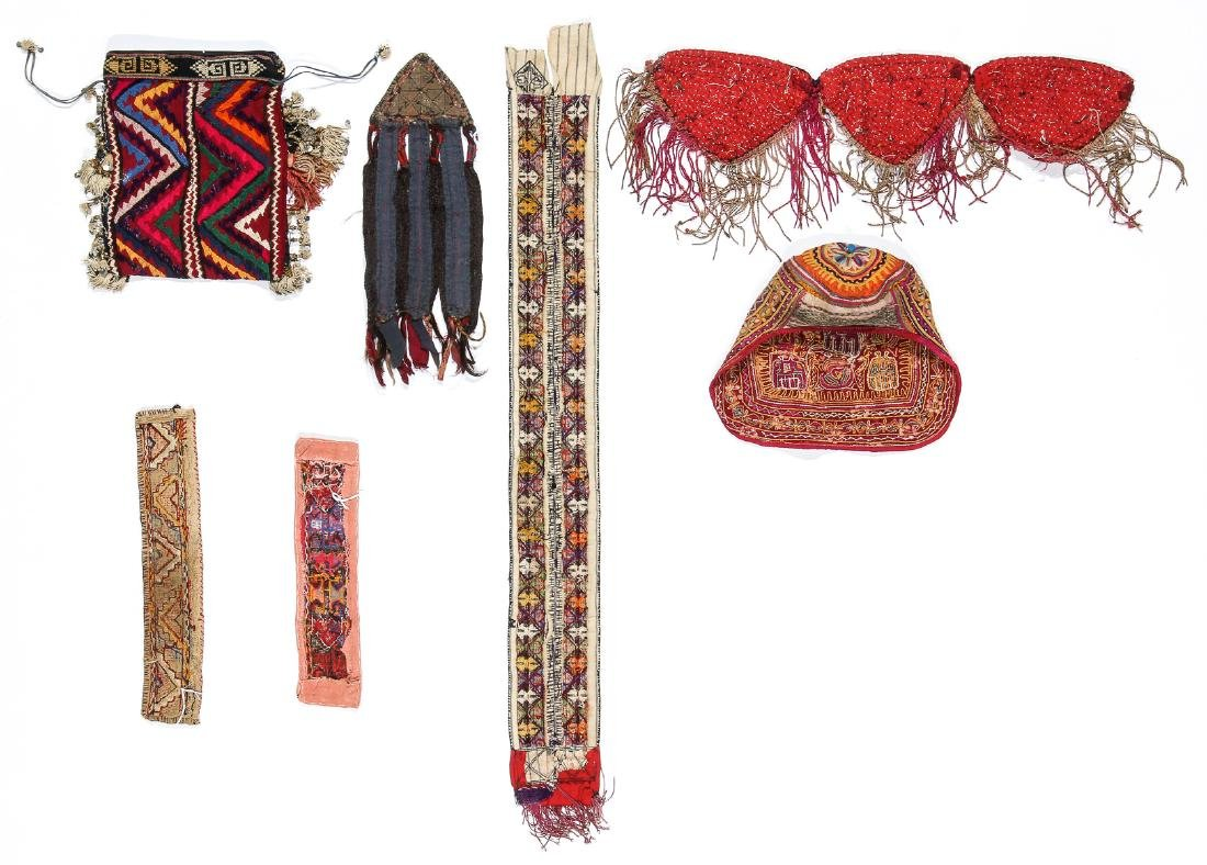 3 African Beaded Artifacts: 2 Cache Sexe & Purse - 7