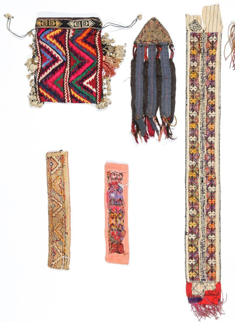 3 African Beaded Artifacts: 2 Cache Sexe & Purse - 8