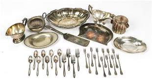 Collection of Estate Silver Plate 33 Items