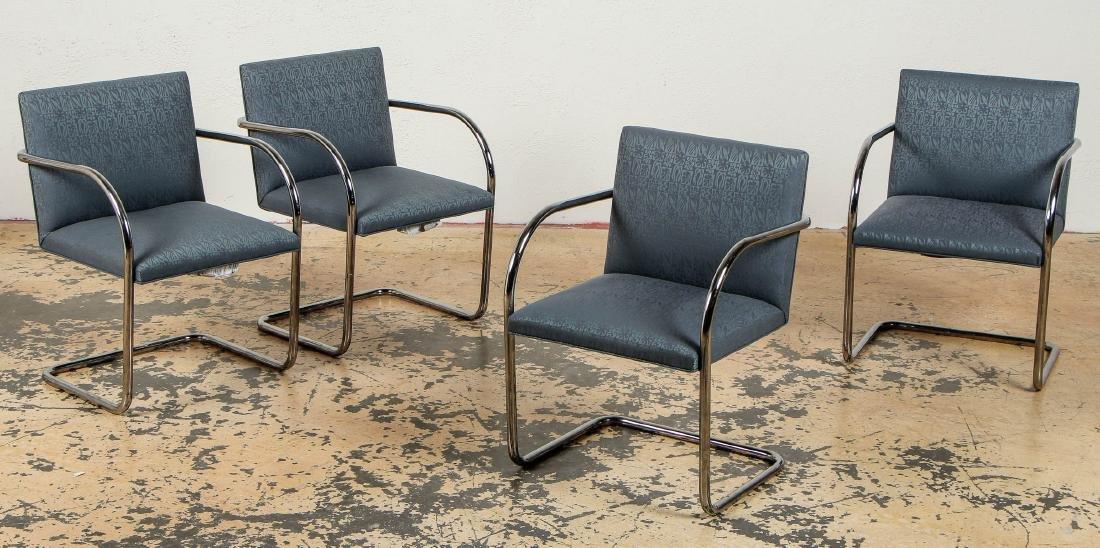 Set of 4 Knoll Brno Chairs, Mies Van Der Rohe