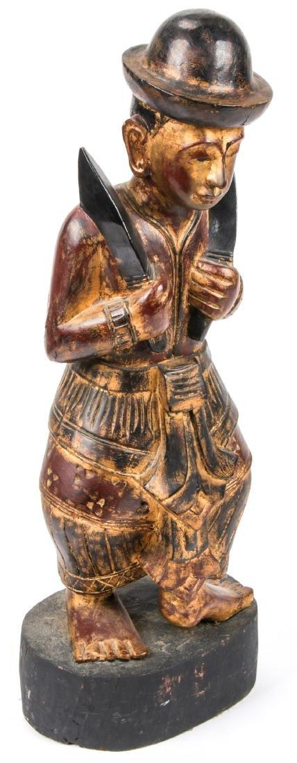 Vintage Southeast Asian Carved Wood Folk Art Figure - 2
