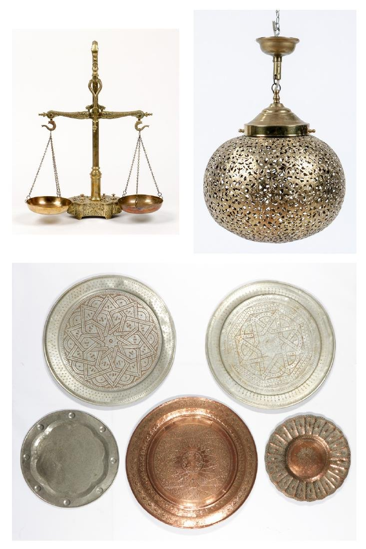 Estate Collection of Vintage Middle Eastern Brass Items