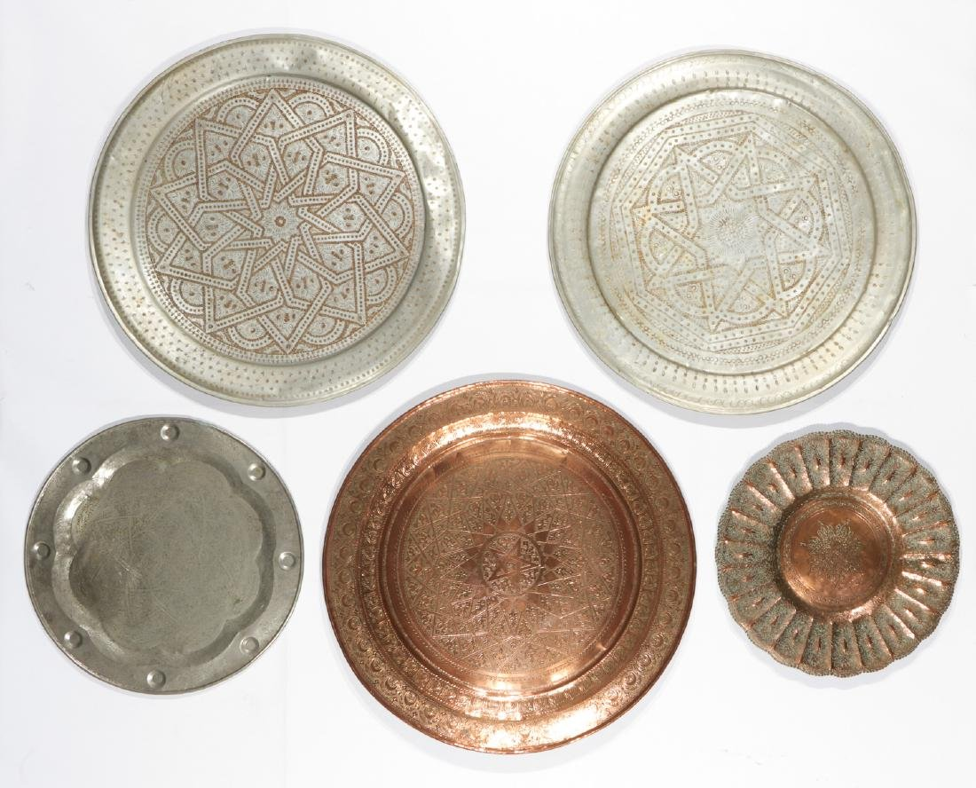 Estate Collection of Vintage Middle Eastern Brass Items - 5
