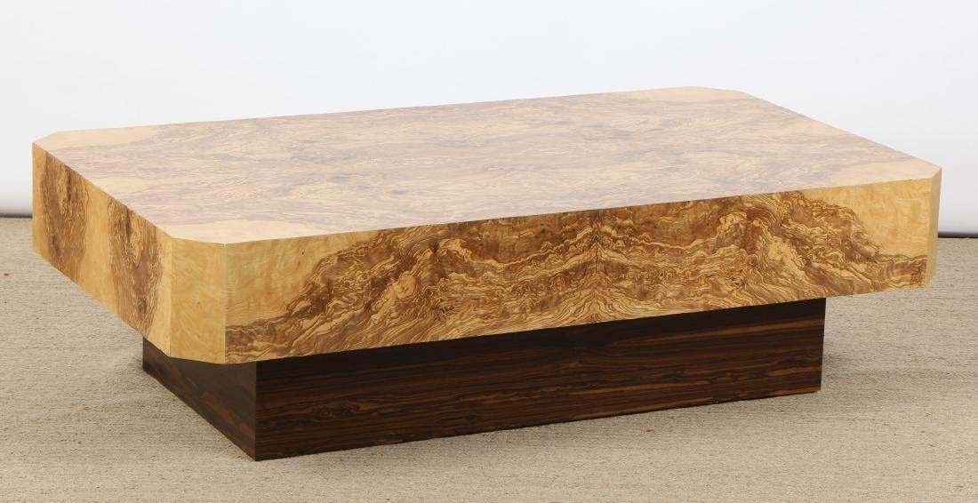 Modern Sedona Burl Coffee Table