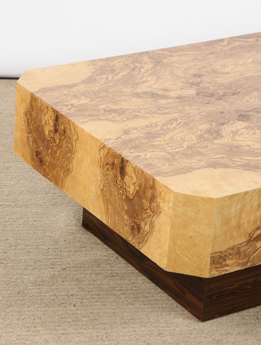 Modern Sedona Burl Coffee Table - 2