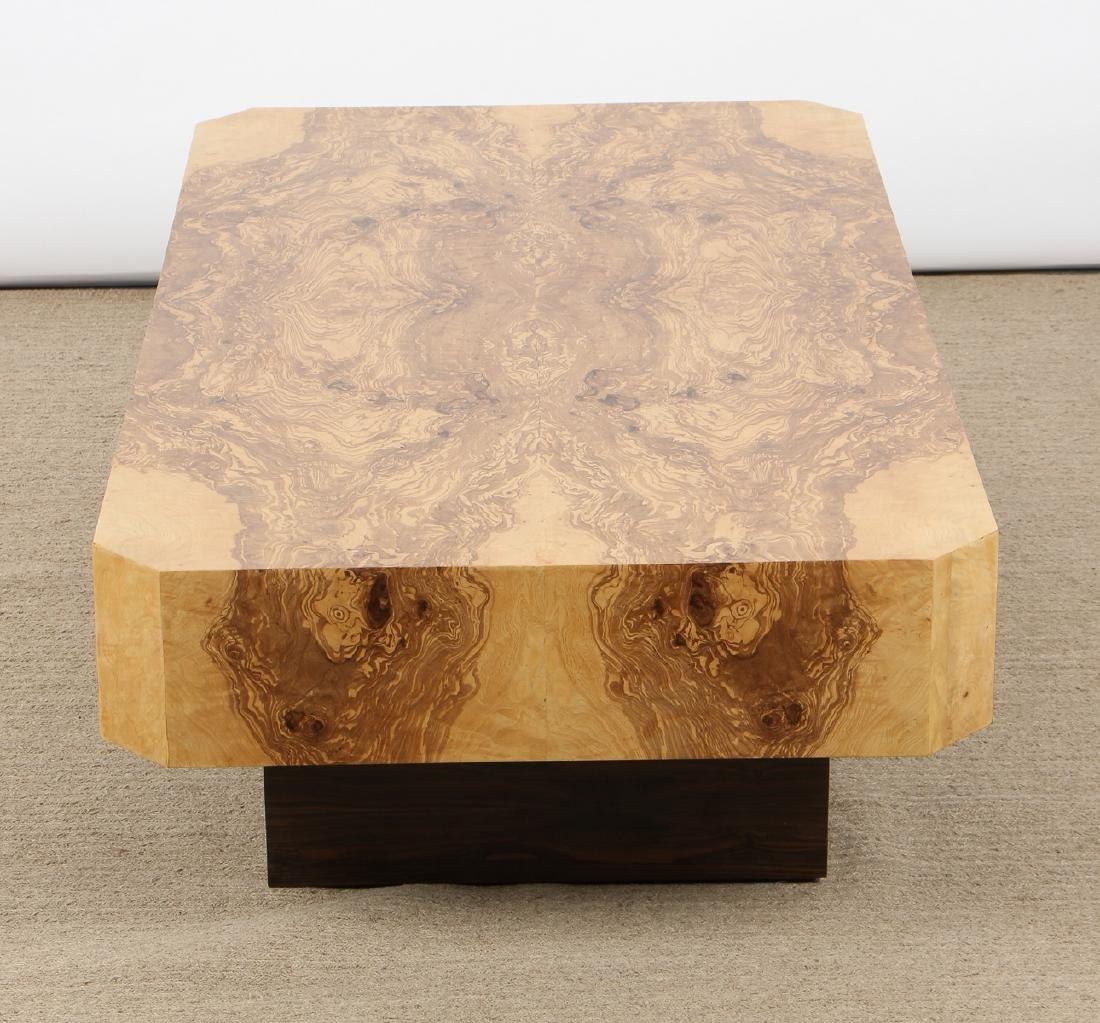 Modern Sedona Burl Coffee Table - 3