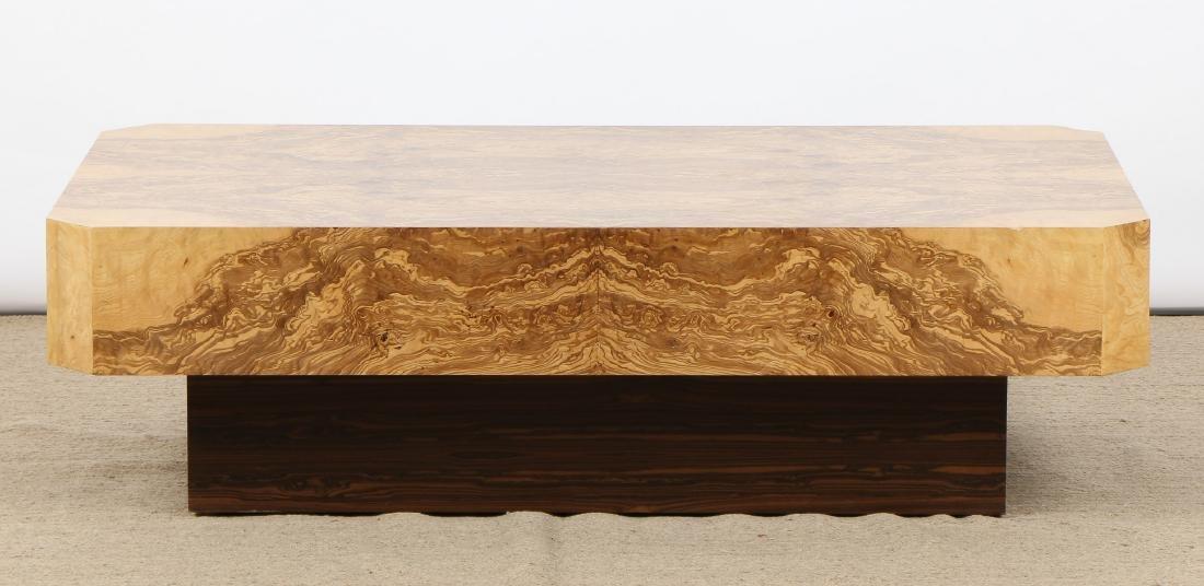 Modern Sedona Burl Coffee Table - 4