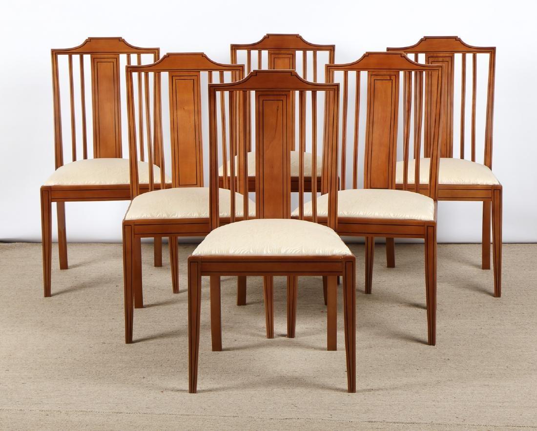 Set of 6 Modern Sheraton Style Side Chairs