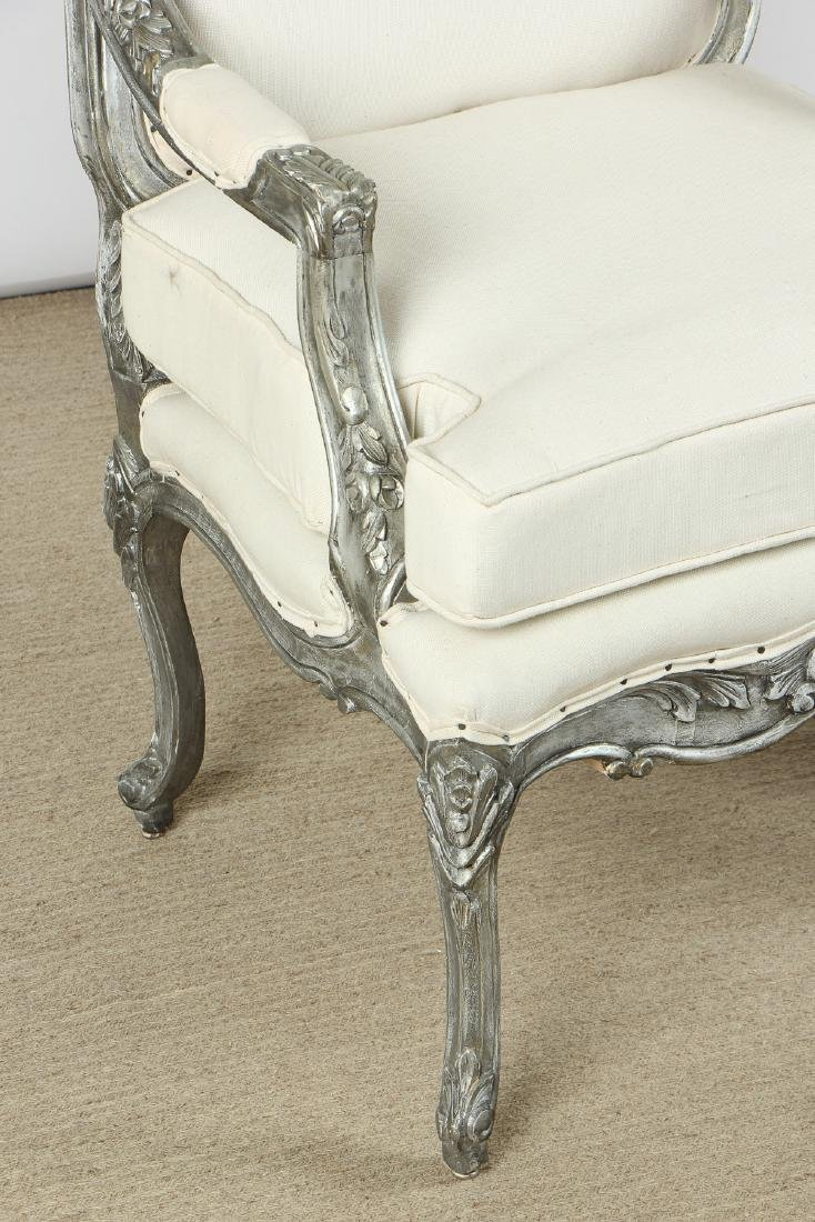 Pair of Modern Upholstered Bergere Chairs - 2