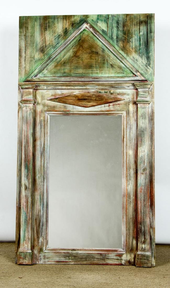 """Large Modern Painted Mirror: Ht 72"""""""